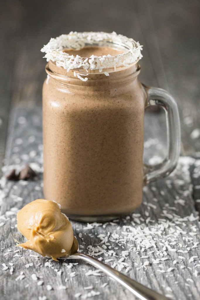 Peanut Butter, chocolate And Coconut Milk shake